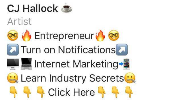 cjh instagram bio