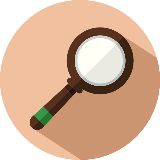 seo magnifying glass icon