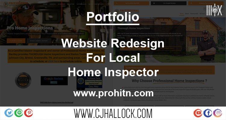 website design portfolio for home inspector